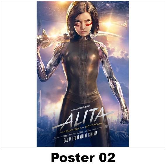 Poster Alita 30x42 Anjo De Combate (02)