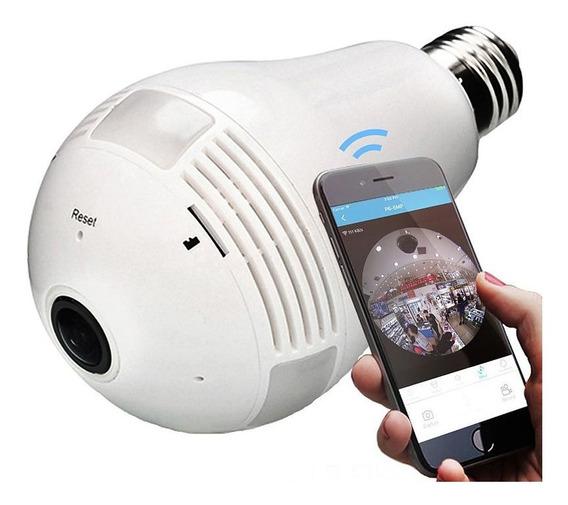 Camera Ip E27 Estilo Lampada 5x Peças