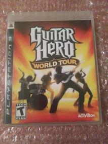 Guitar Hero World Tour Ps3 Mídia Física Seminovo Com Manual