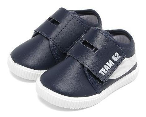 Tênis Infantil Velcro 20 Ao 27 Azul Marinho 32817c Pimpolho