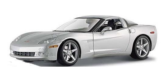 Miniatura Chevrolet Corvette 2005 Prata Maisto 1/18