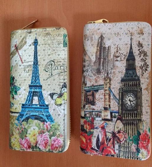 Billeteras Para Mujer Torre Eiffel / De Pisa