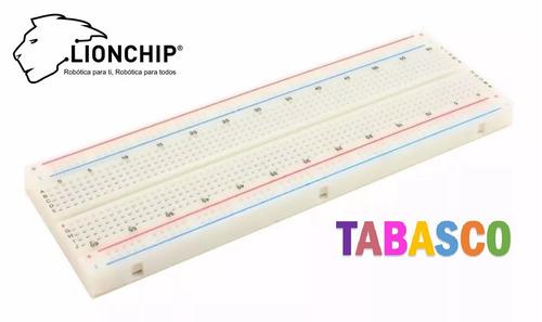 Imagen 1 de 2 de Protoboard Breadboard Grande 830 Puntos Arduino Raspberry