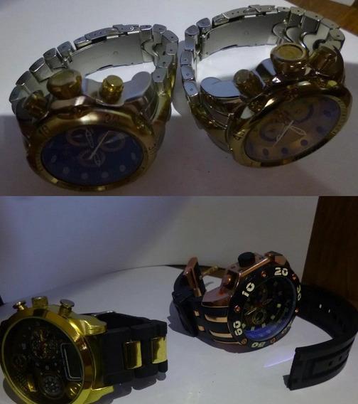 Lote Com 4 Relógios Para Conserto Ou Peças