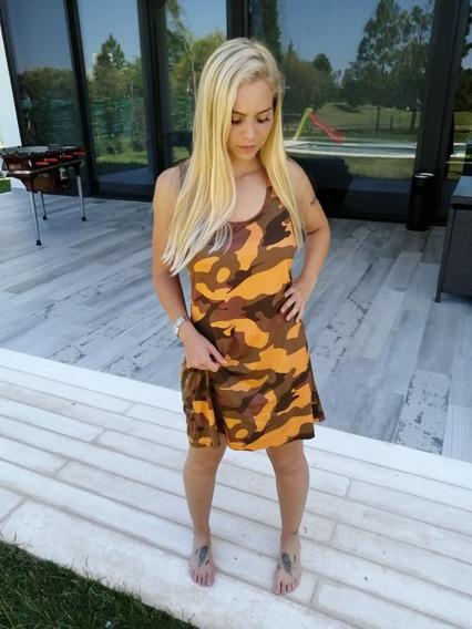 Vestido De Modal Camuflado Cris Rock