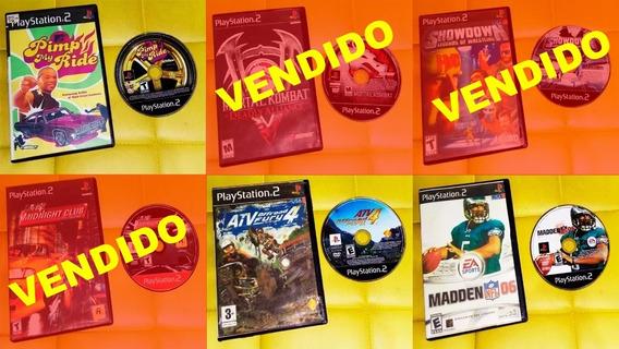 Playstation 2 Ps2 Jogo Game Original Promoção 29 Reais Cada
