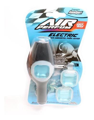 Imagen 1 de 5 de Air Perfum Aromatizante 12v C/salida Usb Aqua Sport