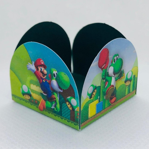 Imagem 1 de 3 de 200 Forminhas Para Doces Festa Tema Super Mário Bros 2 Luigi