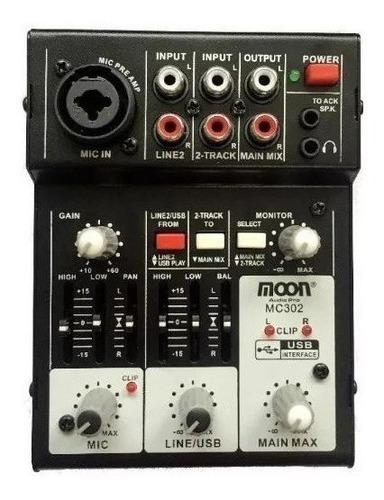 Mixer Moon Mc-302 Interfaz Audio Usb