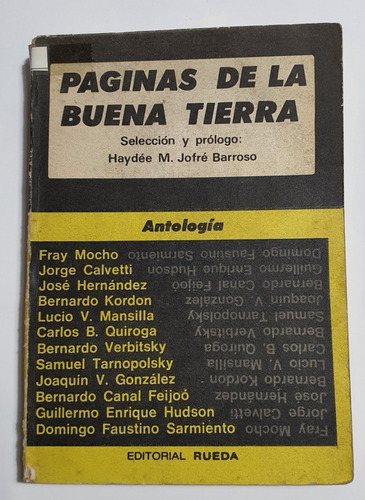 Paginas De La Buena Tierra Antologías