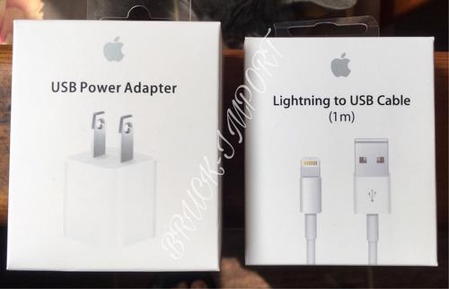 Cargador Para iPhone  + Cable Usb Lightning 1 Metro Apple!