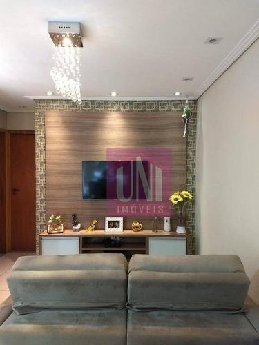 Cobertura Com 2 Dormitórios À Venda, 130 M² Por R$ 445.000,00 - Bangu - Santo André/sp - Co0954