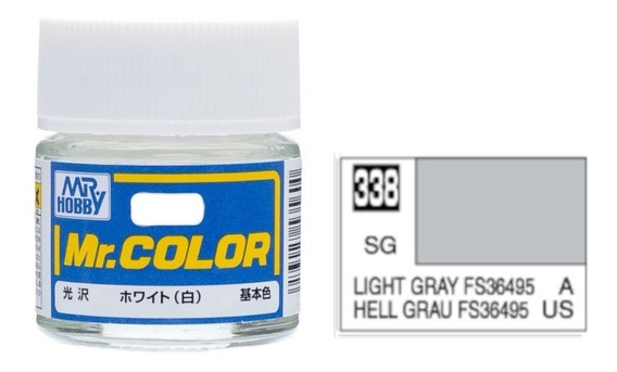 Tinta Acrílica Light Gray Fs36495 Hell Grau Mr Color 338
