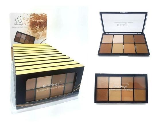 Paleta De Contorno Iluminador E Bronzer Belle Angel Box C/12