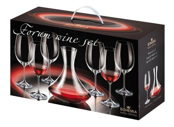 Juego De 6 Copas Degustacion Vino Bohemia Cristal + Decanter