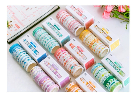 Conjunto De 10 Fitas Washi Tape Decorativas Scrapbook