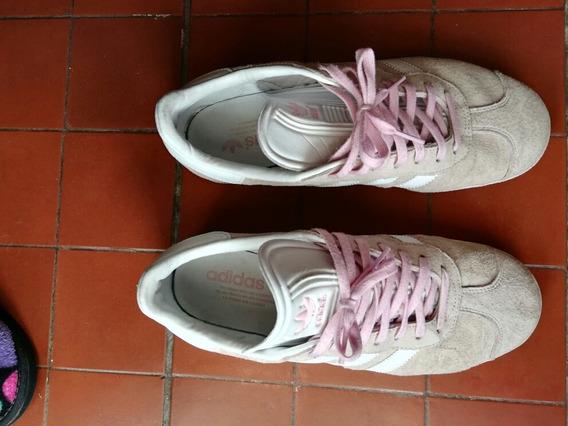 Zapatillas De Gamuza adidas Gazelle Rosas Divinas