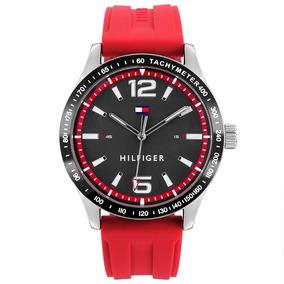 Relógio Tommy Hilfiger Masculino Borracha Vermelha - 1791535