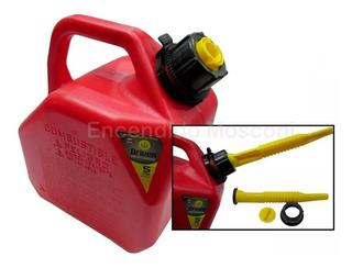 Bidon Combustible Nafta Diesel Pico Vertedor 5 Lts