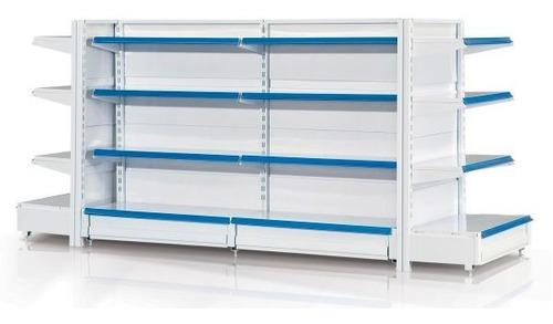 Imagen 1 de 5 de Gondola Supermercado 2.70 Largo X 2 Alto Blanca O Negra F R