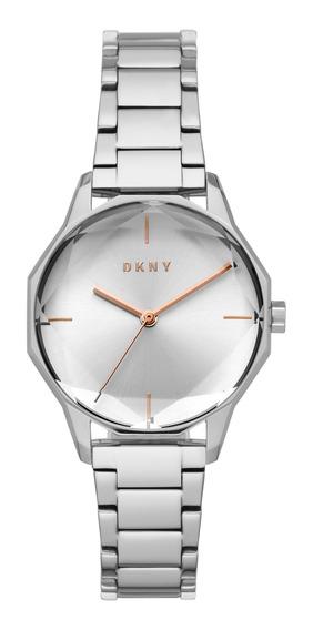 Reloj Dama Dkny Ny2793 Color Plata De Acero