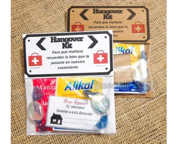20 Kit Anti-resaca Hangover Souvenir Para Casamiento Boda