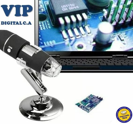 X500 Microscopio Digital Usb 2mp Con Base Zoom Tienda Oferta