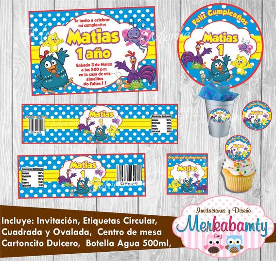 Gallina Pintadita Tutu Invitaciones Y Tarjetas En Mercado