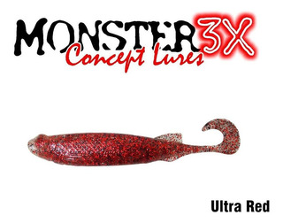 Isca Artificial Soft Bass Monster 3x E-shad 9cm 5 Un - Cores