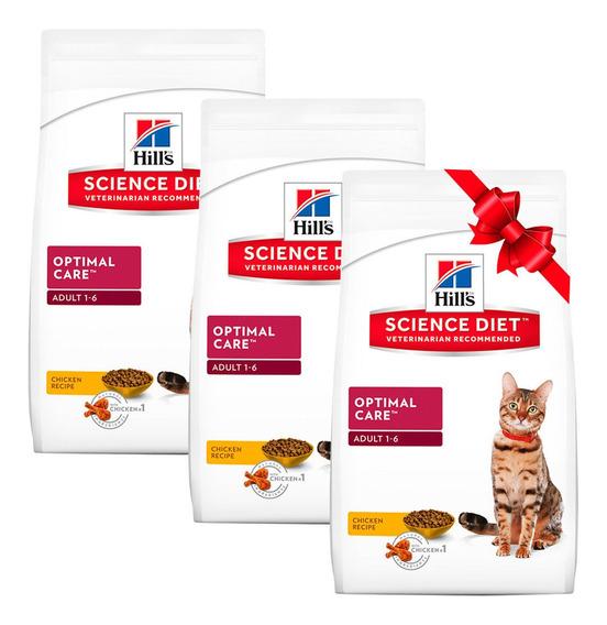 3 X 2 Alimento Para Gato Cuidado Optimo Bolsa 7kg Hill