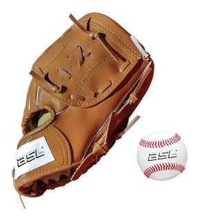 Guante Baseball 9 ´´+ Pelota Cosida Set Softball Kbl Bola