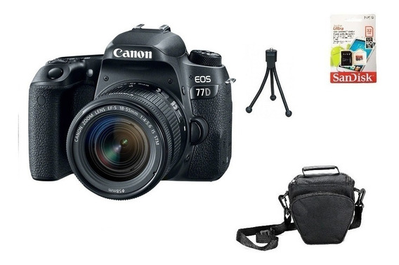 Canon 77d 18-55mm Aps-c 24.2mp Wifi 32gb Bolsa Tripé Sjuros