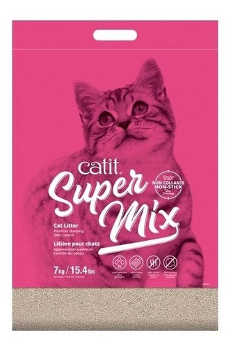 Arena Aglomerante Litera Gatos Cat It Super Mix 7 Kg