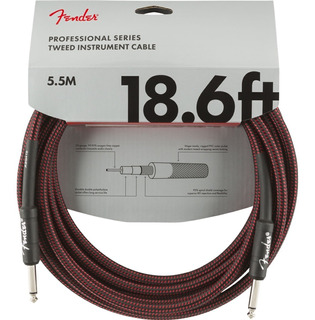 Cable Para Instrumento Fender Professional 18.6ft Red Tweed