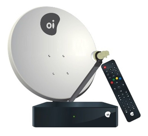 Receptor Oi Tv Livre Hd + Antena 60cm Ku Duplo + 17m Cabos