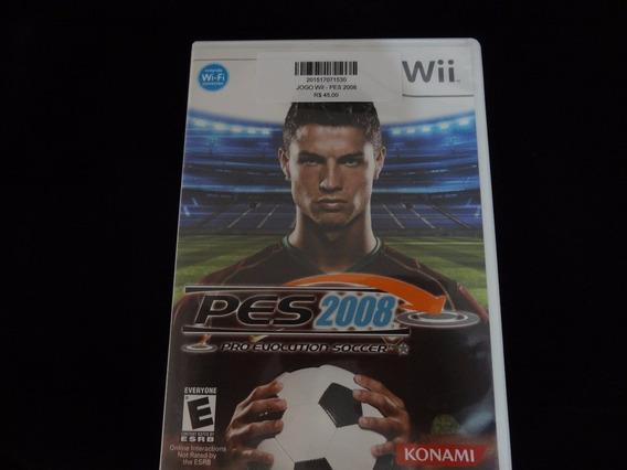 Jogo Wii - Pes 2008 Pro Evolution Soccer