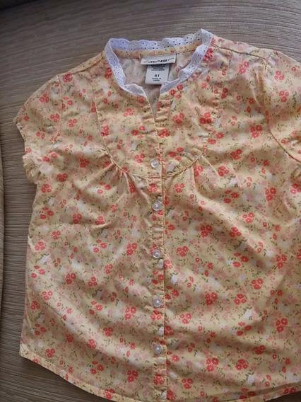 Camisa Importada Cherokee Menina 4 Anos 100% Algodão