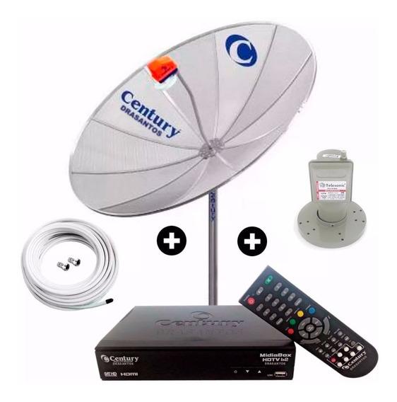 Antena Parabolica Digital Hd Completa Multiponto 190 Cm