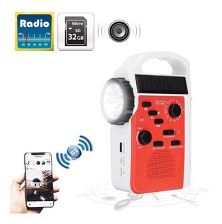 Radio Portatil Bluetooth Usb Sd Led Am/fm Dinamo Y Mas