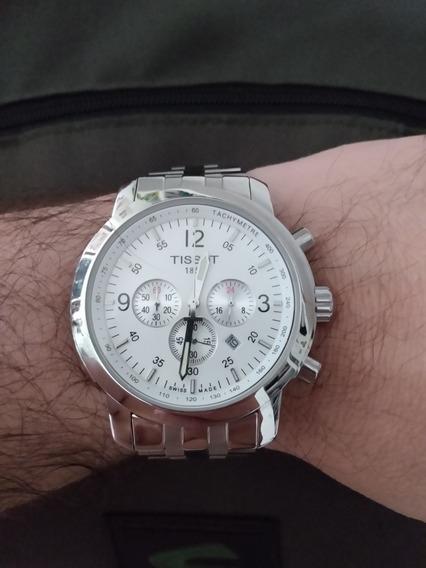 Relógio Tissot Pcr 200, Fundo Branco Aço Inoxidável