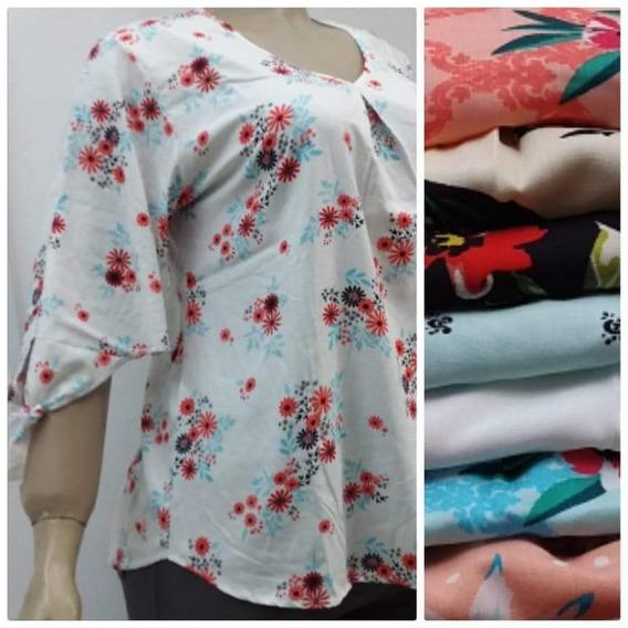 Camisas Blusas Fibrana Mujer-talles Grandes Y Especiales