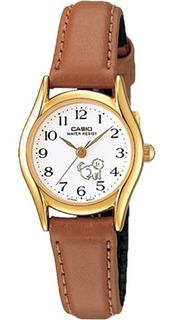 Ltp-1094q-7b9rd - Reloj Casio Pulso Cuero Caja Dorado
