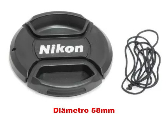 Tampa Com Logo Lente Nikon Af-s 50mm - Diâmetro 58mm