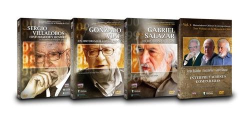 Imagen 1 de 5 de Dvds Serie Historiadores Chilenos Contemporáneos (4 Vol)