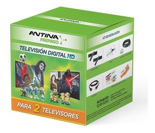 Pack Combo Antina Prepago Television Hd Único Para 2 Tvs!