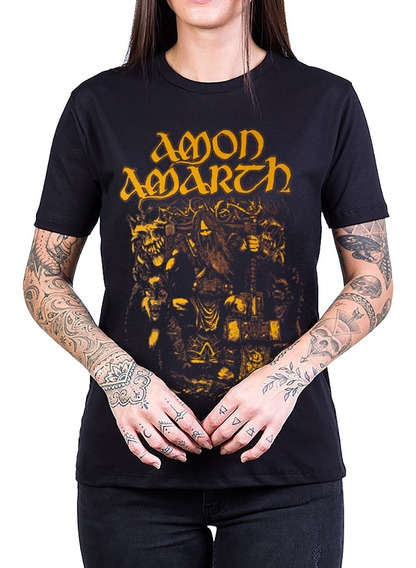 Camiseta Amon Amarth Odin Viking Feminina Bandalheira