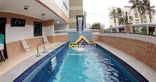 Apartamento Com 2 Dormitórios À Venda, 79 M² Por R$ 420.000,00 - Vila Caiçara - Praia Grande/sp - Ap0549