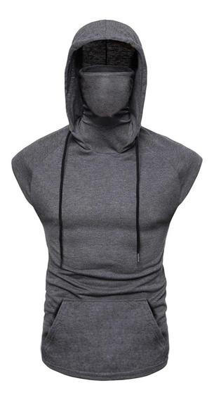 Regata Masculina Ninja Com Mascara Embutida E Capuz Slim Fit