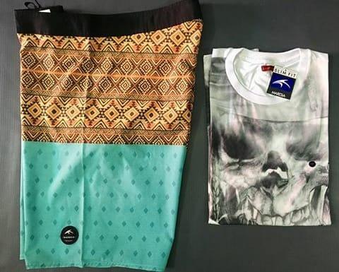 Kit Bermuda Maresia + Camisa Maresia (diversas)