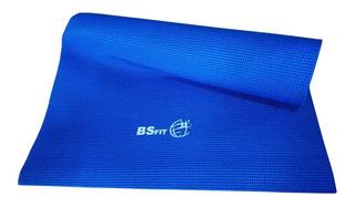 Colchoneta Mat Yoga 4 Mm Pilates Enrollable Bsfit Importado